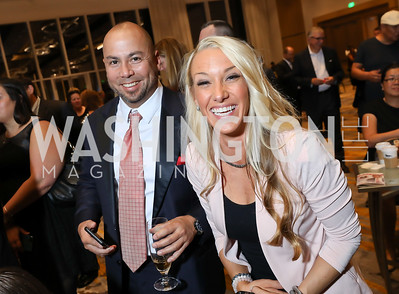 Brian Strosser, Autumn Sewell. Photo by Tony Powell. 2018 Capitals Casino Night II. MGM. October 14, 2018