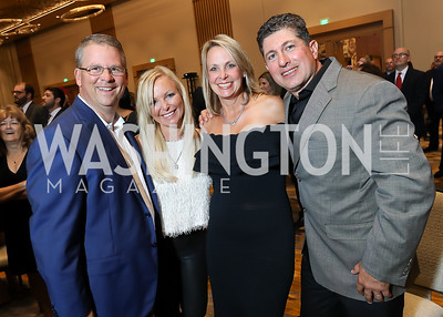 Trey and Joely Mauck, Lisa and Frank Odeh. Photo by Tony Powell. 2018 Capitals Casino Night II. MGM. October 14, 2018
