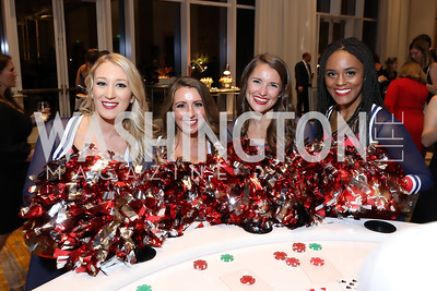 Rebecca, Brianna, Shelby, Chrysta. Photo by Tony Powell. 2018 Capitals Casino Night II. MGM. October 14, 2018
