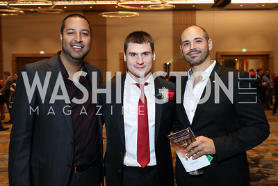 Abe Hamrah, Dimitri Orlov, Ruben Chavez. Photo by Tony Powell. 2018 Capitals Casino Night II. MGM. October 14, 2018