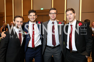 Nathan Walker, Nick Dowd, Phoenix Copley, Dmitrij Jaskin. Photo by Tony Powell. 2018 Capitals Casino Night II. MGM. October 14, 2018