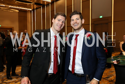 Dmitrij Jaskin, Nic Dowd. Photo by Tony Powell. 2018 Capitals Casino Night II. MGM. October 14, 2018