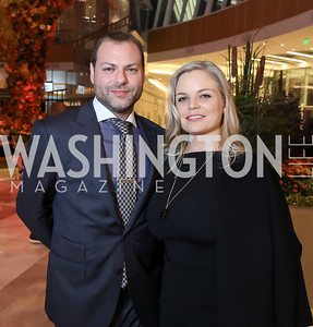 Jason Kampf, Crystal Boyd. Photo by Tony Powell. 2018 Capitals Casino Night II. MGM. October 14, 2018