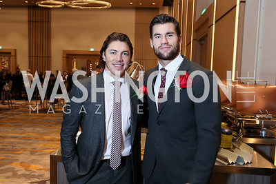 TJ Oshie, Tom Wilson. Photo by Tony Powell. 2018 Capitals Casino Night II. MGM. October 14, 2018