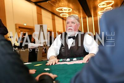 Dealer Steve Wampler. Photo by Tony Powell. 2018 Capitals Casino Night. MGM. January 4, 2018