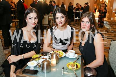 Nastasiya Ovechkina, Varvara Orlova, Anna Abramova. Photo by Tony Powell. 2018 Capitals Casino Night. MGM. January 4, 2018