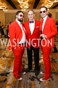 Nathan Burchfiel, Jim Ostrye, Ryan Ostrye. Photo by Tony Powell. 2018 Capitals Casino Night. MGM. January 4, 2018
