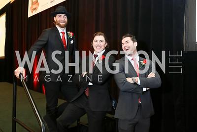 Braden Holtby, TJ Oshie, Tom Wilson. Photo by Tony Powell. 2018 Capitals Casino Night. MGM. January 4, 2018