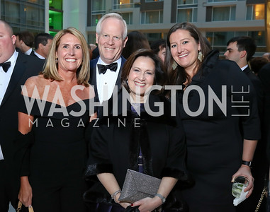 Lisa Paro, Tim and Anita McBride, Julie Burke. Photo by Tony Powell. 2018 Catholic Charities Gala. Marriott Marquis. April 7, 2018