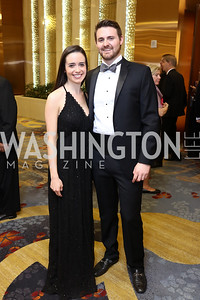 Alex Gangitano, Bryan Petrich. Photo by Tony Powell. 2018 Catholic Charities Gala. Marriott Marquis. April 7, 2018