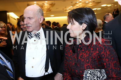 Phil Mendelson, Ana Harvey. Photo by Tony Powell. 2018 Catholic Charities Gala. Marriott Marquis. April 7, 2018