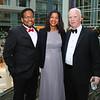 Darryll Pines, Sylvia Pines, Bob Flanagan. Photo by Tony Powell. 2018 Catholic Charities Gala. Marriott Marquis. April 7, 2018