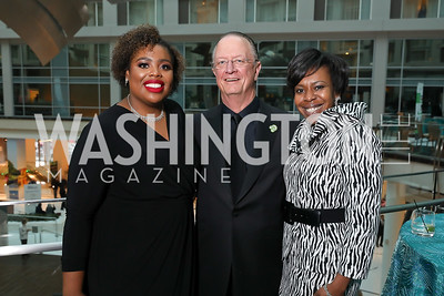 Christina Harper, Bill Von Hoene, Kim Hassan. Photo by Tony Powell. 2018 Chamber of Commerce Gala. October 19, 2018