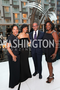 Tiffini Greene, PG County Exec. Angela Alsobrooks, Brett Greene, PG State's Attorney Aisha Braveboy. Photo by Tony Powell. 2018 Chamber of Commerce Gala. October 19, 2018