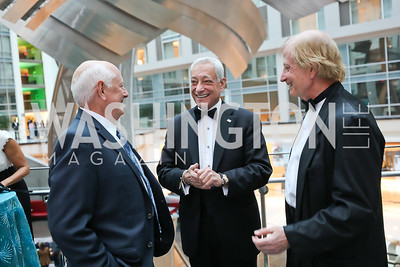 Alvin Stenzel, Paul Cohn, John Dillon. Photo by Tony Powell. 2018 Chamber of Commerce Gala. October 19, 2018