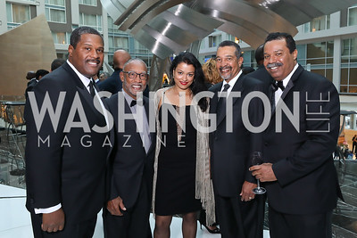 Emmanuel Bailey, Pedro Alfonso, Meena Karithanom, Wendell Johns, Shaun Meyers. Photo by Tony Powell. 2018 Chamber of Commerce Gala. October 19, 2018