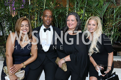 Queenie Plater, David Hill, Cami Mazard, Victoria Michael. Photo by Tony Powell. 2018 Chamber of Commerce Gala. October 19, 2018