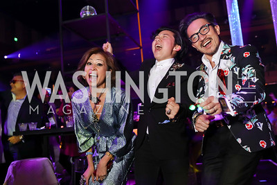 Linh Ditthavong, Kai Sia, Keth Ditthavong. Photo by Tony Powell. 2018 Chance for Life. MGM National Harbor. March 10, 2018