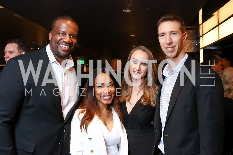 Derrick and Emma Dockery, Kellee and Sean Glass. Photo by Tony Powell. 2018 Chance for Life. MGM National Harbor. March 10, 2018