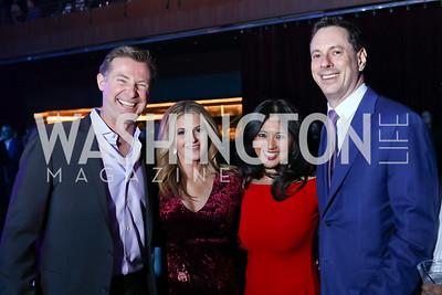 Tom Gargan, Jeanean Petoskey, Sara Eckert, Matt Schwartz. Photo by Tony Powell. 2018 Chance for Life. MGM National Harbor. March 10, 2018