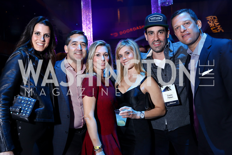 Vanessa Patten, Keith and Stephanie Lemur, Casey Patten, Stacey and Greg Lubar. Photo by Tony Powell. 2018 Chance for Life. MGM National Harbor. March 10, 2018