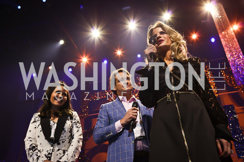 Angie Goff, Brad and Callie Nierenberg. Photo by Tony Powell. 2018 Chance for Life. MGM National Harbor. March 10, 2018