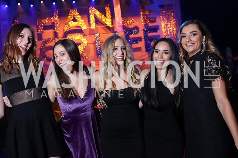 Rachel Cary, Molly Toomey, Jessica Marsh, Paula Bejarano, Cortney O'Connell. Photo by Tony Powell. 2018 Chance for Life. MGM National Harbor. March 10, 2018