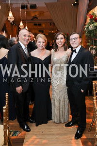 Iver, Lexy, Eleni, and Tyler Kessler. Photo by Tony Powell. 2018 Choral Arts Gala. Kennedy Center. December 17, 2018