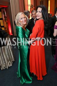 Deborah Sigmund, Nazgol Fearnow. Photo by Tony Powell. 2018 Choral Arts Gala. Kennedy Center. December 17, 2018