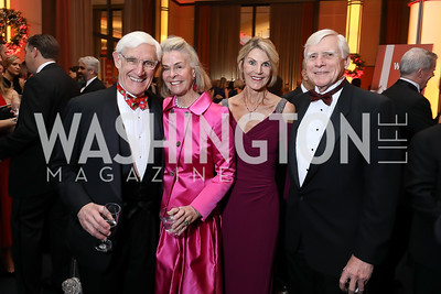 Patrick and Sheila Gross, Dale Koepenick and James Sheaffer. Photo by Tony Powell. 2018 Choral Arts Gala. Kennedy Center. December 17, 2018