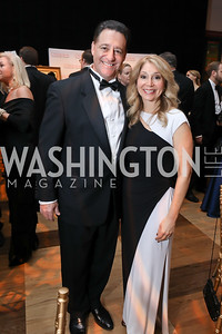 Joel and Janet Pitt. Photo by Tony Powell. 2018 Choral Arts Gala. Kennedy Center. December 17, 2018