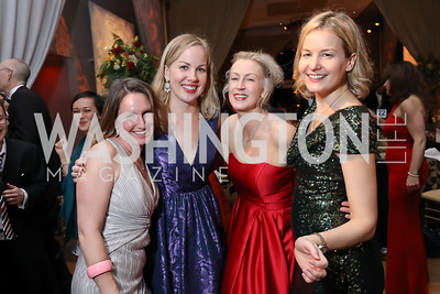 Bethann Siegel, Liz Romig, Shannon Corey, Kathleen Romig. Photo by Tony Powell. 2018 Choral Arts Gala. Kennedy Center. December 17, 2018