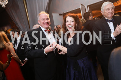 Doug and Diana Dykstra. Photo by Tony Powell. 2018 Choral Arts Gala. Kennedy Center. December 17, 2018