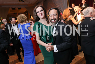 Emily Riffle, Ernesto Monter. Photo by Tony Powell. 2018 Choral Arts Gala. Kennedy Center. December 17, 2018
