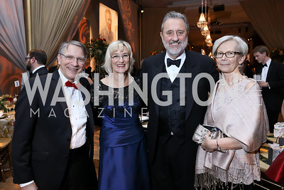 Scott Tucker, Lena Schuwer and Netherlands Amb. Henne Schuwer, Finland Amb. Kirsti Kauppi. Photo by Tony Powell. 2018 Choral Arts Gala. Kennedy Center. December 17, 2018