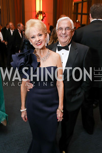 Carol and Climis Lascaris. Photo by Tony Powell. 2018 Choral Arts Gala. Kennedy Center. December 17, 2018