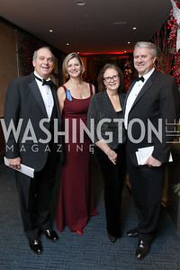 Matthew Jacobs and Caroline Cunningham, Diane Hartley and Jonathan Sade. Photo by Tony Powell. 2018 Choral Arts Gala. Kennedy Center. December 17, 2018