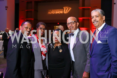 Mark and Brenda Moore, Amanda Stafford, Tony Williams, Earl Stafford. Photo by Tony Powell. 2018 Exotic Car and Luxury Lifestyle VIP Event. Convention Center. January 23, 2018