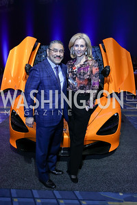 Bob Hisaoka, Katherine Bradley. Photo by Tony Powell. 2018 Exotic Car and Luxury Lifestyle VIP Event. Convention Center. January 23, 2018