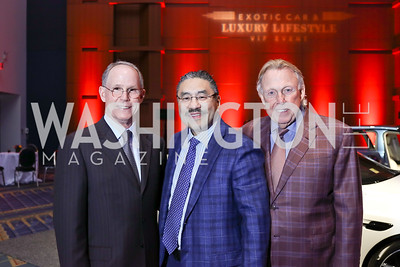 2018 Auto Show Chair John Ourisman, Bob Hisaoka, Dick Patterson. Photo by Tony Powell. 2018 Exotic Car and Luxury Lifestyle VIP Event. Convention Center. January 23, 2018