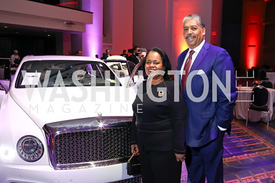 Amanda and Earl Stafford. Photo by Tony Powell. 2018 Exotic Car and Luxury Lifestyle VIP Event. Convention Center. January 23, 2018