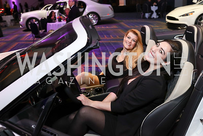Tiny Jewel Box's Alicia Arnold and Chloe Swanson. Photo by Tony Powell. 2018 Exotic Car and Luxury Lifestyle VIP Event. Convention Center. January 23, 2018