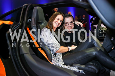 Lauren Schram, Anthony Lupo. Photo by Tony Powell. 2018 Exotic Car and Luxury Lifestyle VIP Event. Convention Center. January 23, 2018