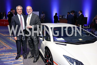 Mark Duber, Steven Schram. Photo by Tony Powell. 2018 Exotic Car and Luxury Lifestyle VIP Event. Convention Center. January 23, 2018