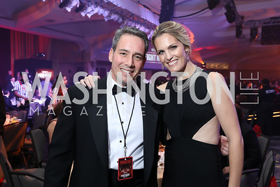 Fight for Children CEO Keith Gordon, Erica Scherzer. Photo by Tony Powell. 2018 Fight Night. Washington Hilton. November 1, 2018