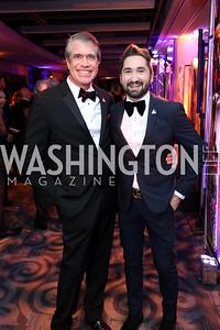 Scott Stewart, Jason Zuccari. Photo by Tony Powell. 2018 Fight Night. Washington Hilton. November 1, 2018