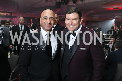 UAE Amb. Yousef Al-Otaiba, Bret Baier. Photo by Tony Powell. 2018 Fight Night. Washington Hilton. November 1, 2018