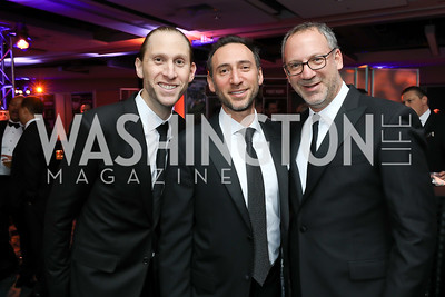 Lee Finkel, Ezra Weinblatt, Eric Kessler. Photo by Tony Powell. 2018 Fight Night. Washington Hilton. November 1, 2018