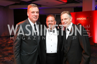 Sen. Mark Warner, Raul Fernandez, Russ Ramsey. Photo by Tony Powell. 2018 Fight Night. Washington Hilton. November 1, 2018