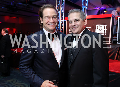 Brad Nierenberg, John Piester. Photo by Tony Powell. 2018 Fight Night. Washington Hilton. November 1, 2018